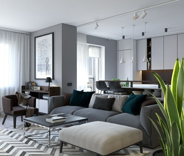 Wohnung Inspiration Stilvoll On Andere Für Staggering Wohnzimmer Die Einrichtung 5 3