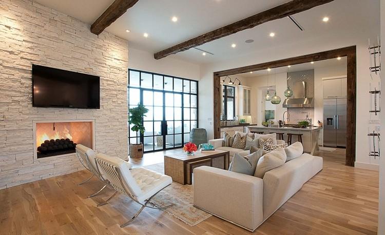 Wohnzimmer Beeindruckend On Für Steinwand Im Als Starker Ausdruck Der Zeitlosigkeit 3