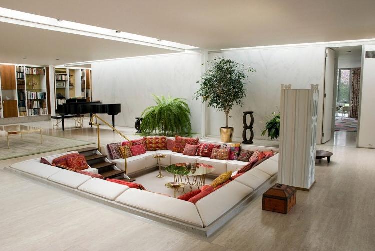 Wohnzimmer Dekorieren Charmant On Für 50 Mit Gemütlicher Deko 8