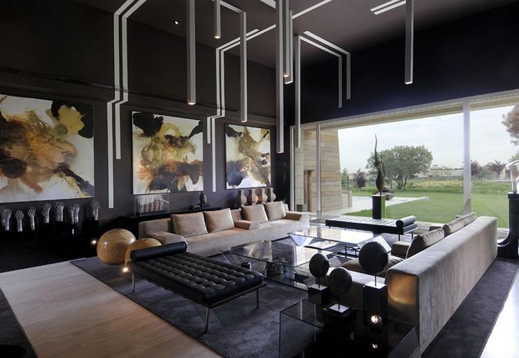 Wohnzimmer Edel Gestalten Zeitgenössisch On Innerhalb In Grau Und Schwarz 50 Wohnideen 2