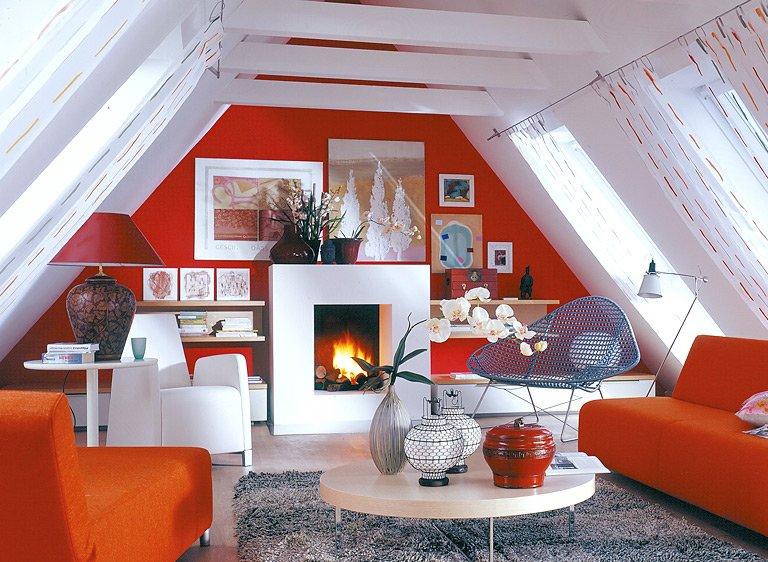 Wohnzimmer Einrichten Farben Fein On Für Die Dachschräge Möbel Und Farbe Schräge Dächer SCHÖNER 9