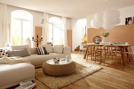 Wohnzimmer Einrichten Farben Nett On In Mit Farbe Hellen Holzfarben Bild 3 1