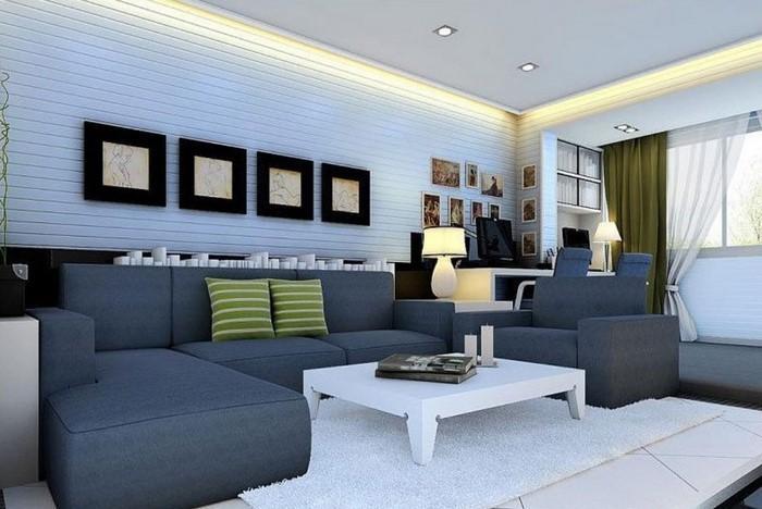 Wohnzimmer Farblich Gestalten Bemerkenswert On Beabsichtigt 71 Wohnideen Mit Der Farbe Blau 1