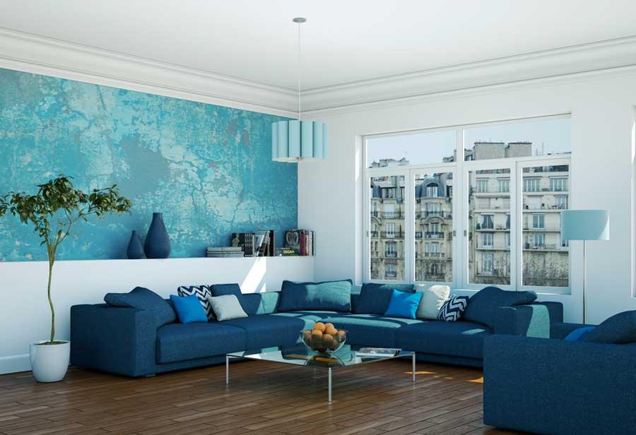 Wohnzimmer Farblich Gestalten Stilvoll On Beabsichtigt Blau Wohndesign 7