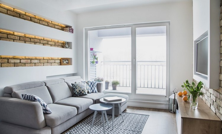 Wohnzimmer Farblich Gestalten Wunderbar On Beabsichtigt Kleine Räume Wandfarbe Und Möbel 2