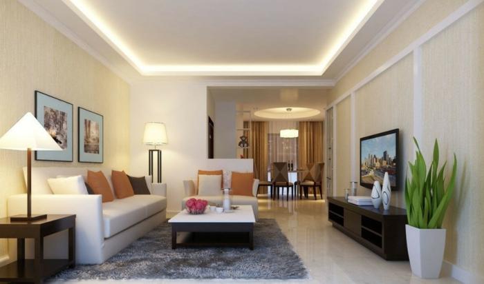 Wohnzimmer Frisch On In Bezug Auf Sollten Es Decken Einbau Oder 8