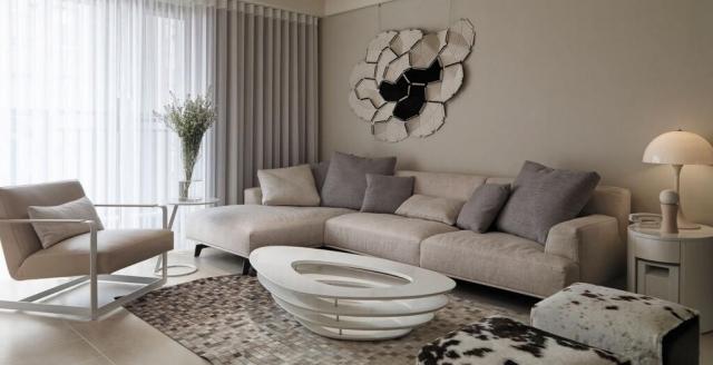 Wohnzimmer Grau Creme