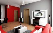 Wohnzimmer Grau Und Rot