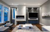 Wohnzimmer Grau Weiß Steine