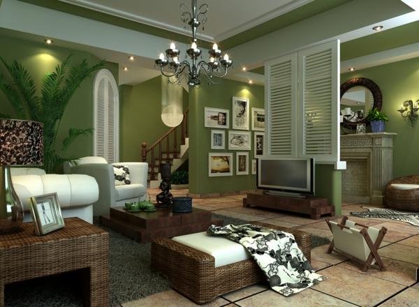 Wohnzimmer Grün Kreativ On Ideen In Bezug Auf Wohnideen Ein Ruhiges Gefühl Durch Die Farbe 3