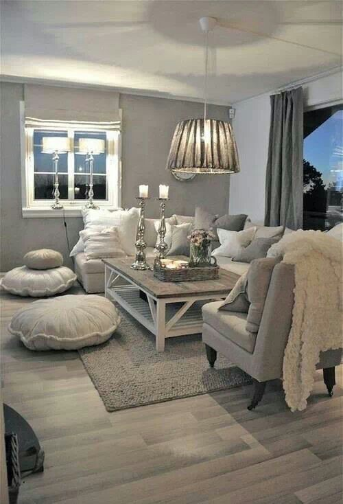 Wohnzimmer Ideen Gemuetlich Frisch On Mit Gemütliches Landhaus In Grau Taupe Farben Die Vielen 8