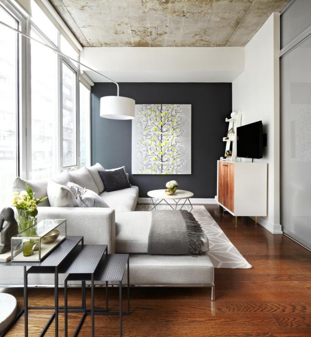 Wohnzimmer Ideen Gemuetlich Imposing On Beabsichtigt Für Das Kleine 30 Inspirierende Bilder 9