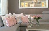 Wohnzimmer Ideen Grau Rosa