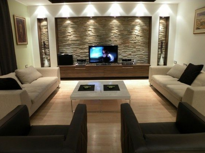 Wohnzimmer Ideen Steinwand Unglaublich On Innerhalb Wohndesign 8
