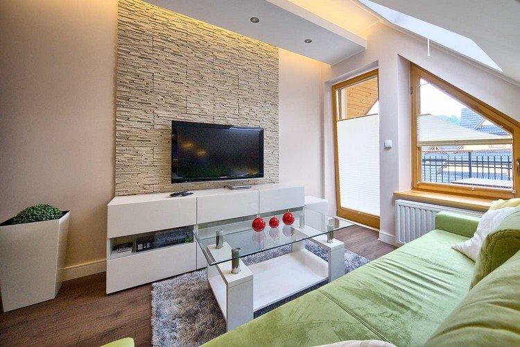 Wohnzimmer Ideen Wandgestaltung Stein Kreativ On Und Style Schlafzimmer 6