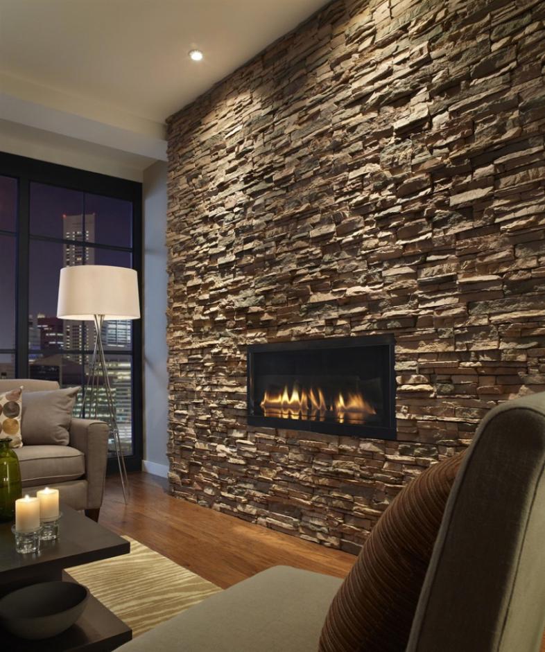 Wohnzimmer Ideen Wandgestaltung Stein Wunderbar On Auf Wand Mit 8