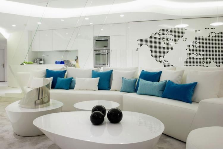 Wohnzimmer In Weiß Kreativ On Auf Einladendes Einrichten 80 Tolle Ideen 1