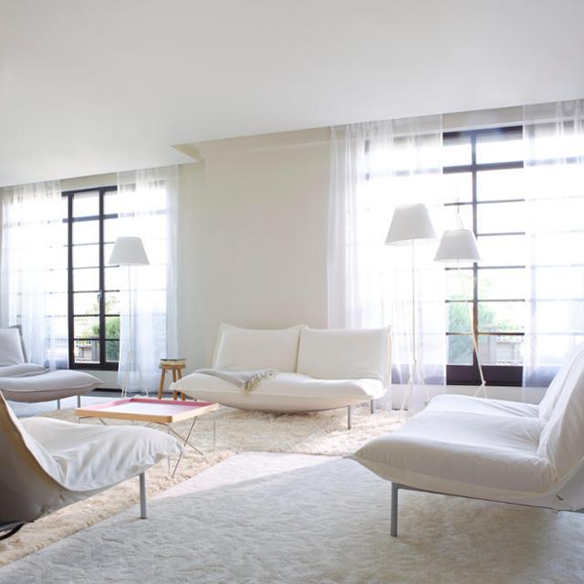 Wohnzimmer In Weiß Schön On überall Fein Für Weißes Bilder Ideen 4