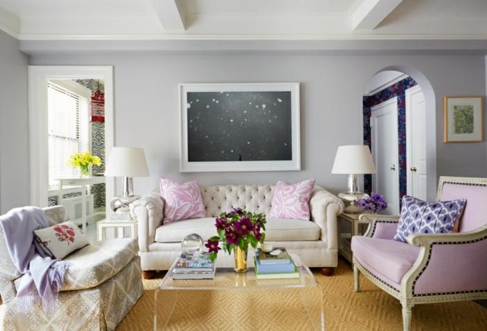 Wohnzimmer Mit Schöne Wandfarben Imposing On In Bezug Auf 1001 Ideen Für Eine Dramatische Gestaltung 1