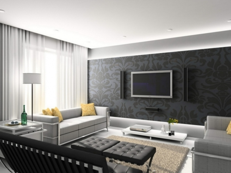 Wohnzimmer Modern Grau Unglaublich On Innerhalb Dekoideen Full Size Of Wohndesign 2017interessant 7