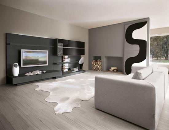 Wohnzimmer Modern Grau Wunderbar On In Weiß 8