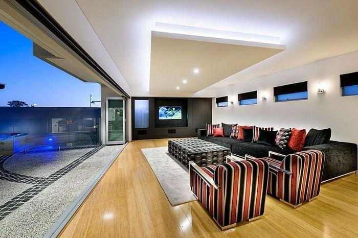 Wohnzimmer Modern On In Angenehm 1