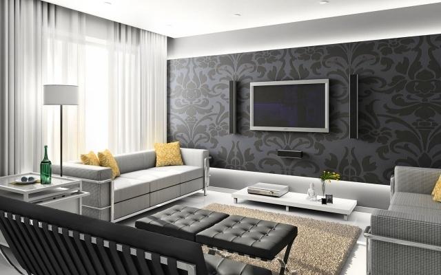 Wohnzimmer Modern Tapezieren Einfach On Beabsichtigt Hwsc Tapete 9