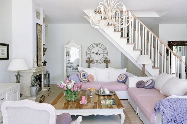 Wohnzimmer Romantisch Erstaunlich On Beabsichtigt Wohnen 31 Shabby Chic 2