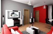 Wohnzimmer Rot