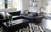 Wohnzimmer Schwarz Weiß Dekoriert