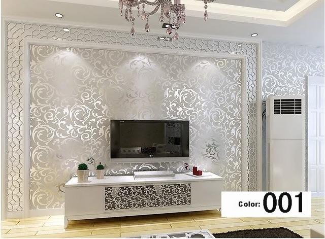 Wohnzimmer Silber Modern On In Italienischen Stil Moderne 3D Geprägte Hintergrundbild Für 5