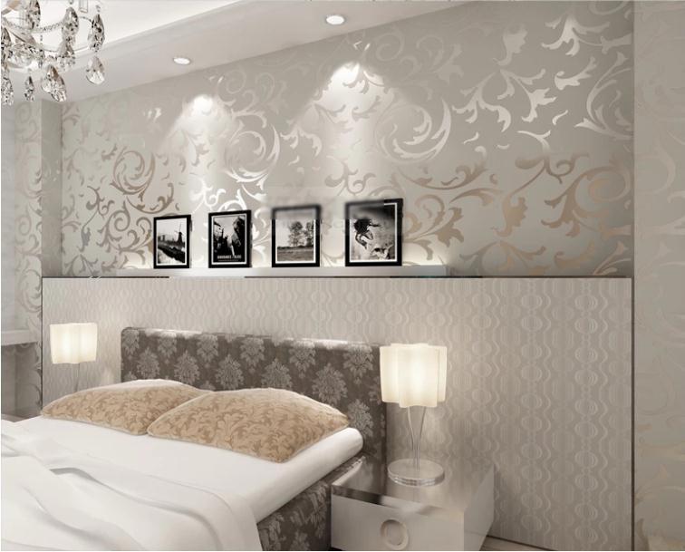 Wohnzimmer Silber Schön On In Bezug Auf Nett Grau Tapete Schlafzimmer 4