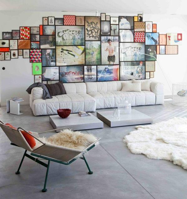 Wohnzimmer Wanddeko Herrlich On In Bezug Auf Bilder Fotowand Skandinavischer Stil 1