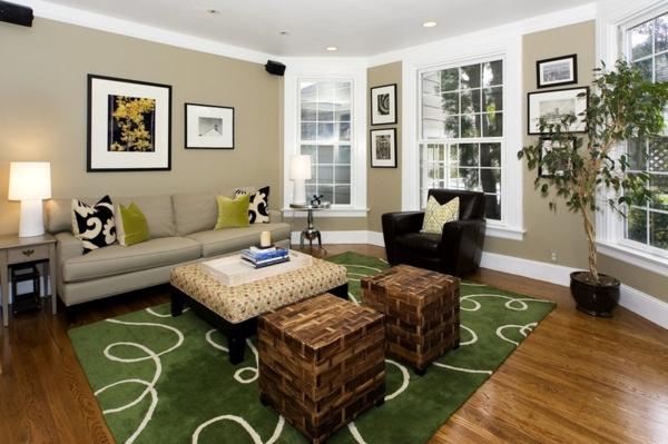 Wohnzimmer Wandfarbe Braun Beeindruckend On In Bezug Auf Komfortabel Plus 4
