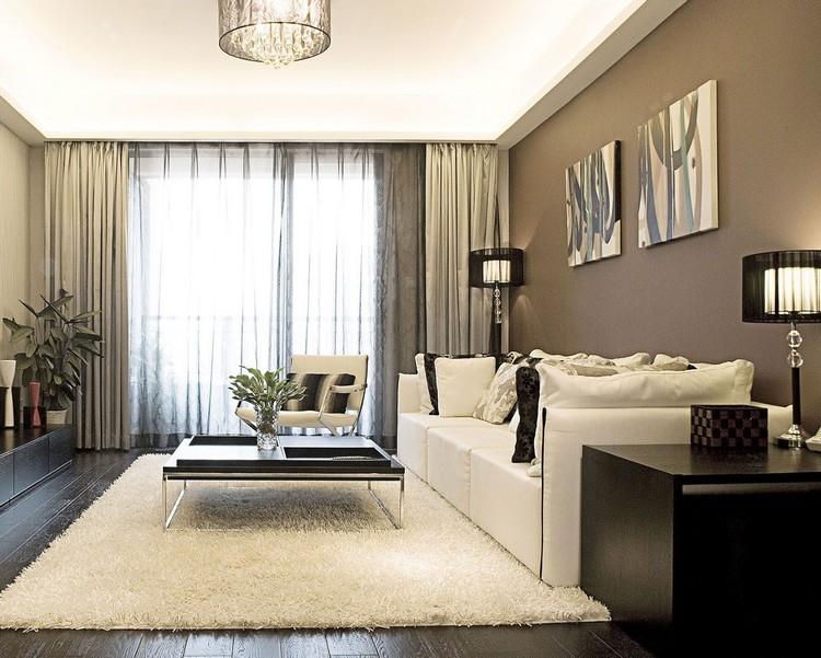 Wohnzimmer Wandfarbe Braun Erstaunlich On In Und Beige Einrichten 55 Wohnideen 6