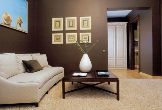 Wohnzimmer Wandfarbe Braun Zeitgenössisch On überall Kreativ Wandfarben Gestaltung 31 Ideen 2