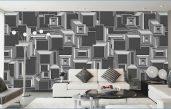 Wohnzimmer Wandgestaltung Schwarz Weiß