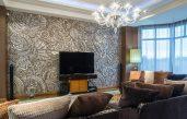 Wohnzimmer Wandgestaltung Tapete