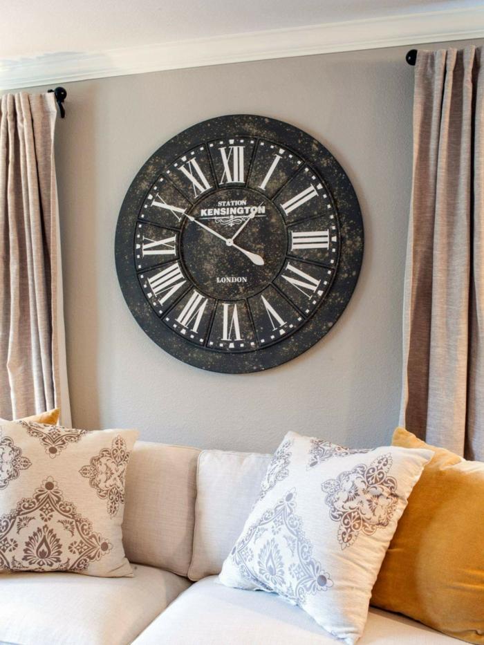 Wohnzimmer Wanduhr Erstaunlich On Beabsichtigt Vintage 22 Praktische Und ästhetische Wanddeko Ideen 7