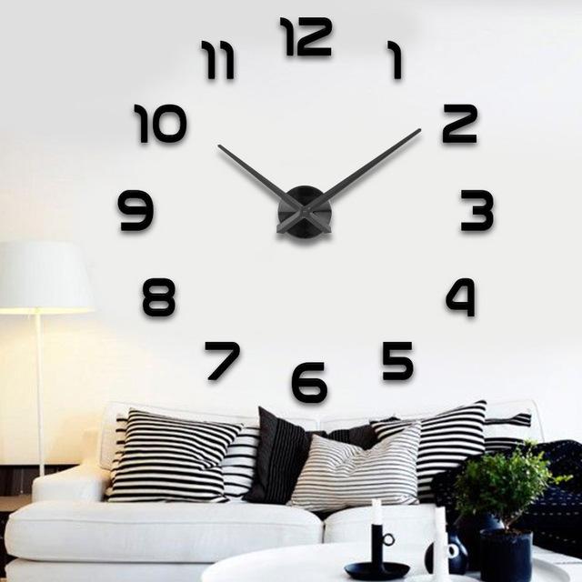 Wohnzimmer Wanduhr Erstaunlich On In Silber Nadel Und Uhr Zifferblatt Spiegel Aufkleber DIY Wanduhren 4