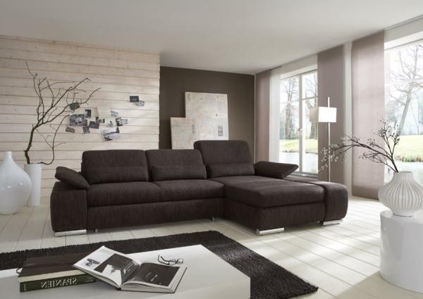 Wohnzimmer Weiß Braun Beeindruckend On In Bezug Auf Grau Weiss 9