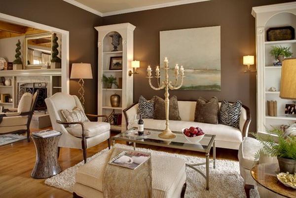 Wohnzimmer Weiß Braun Glänzend On Auf Inspirationen Der Braunen 3