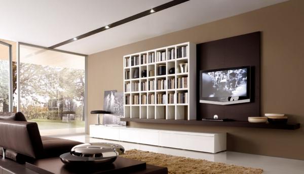 Wohnzimmer Weiß Braun Zeitgenössisch On In Bezug Auf Und Beige Einrichten 55 Wohnideen 4