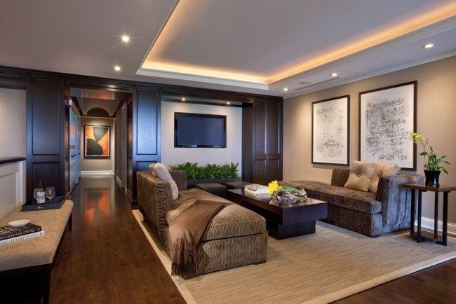 Wohnzimmer Wunderbar On Innerhalb Indirekte Einbauleuchten Holzboden 9