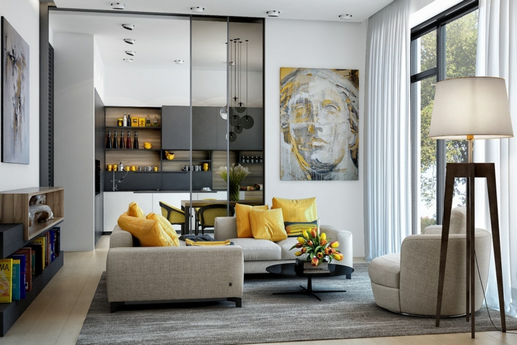 Wohnzimmerideen Frisch On Ideen Mit 25 Wohnzimmer Einrichten Gelben Akzenten 6