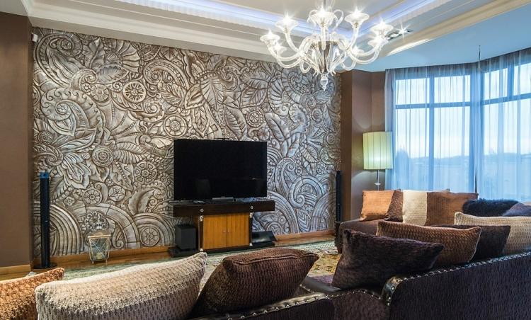 Wohnzimmerwand Ideen Bemerkenswert On überall Wand Modern Tapezieren Www Sieuthigoi Com 7