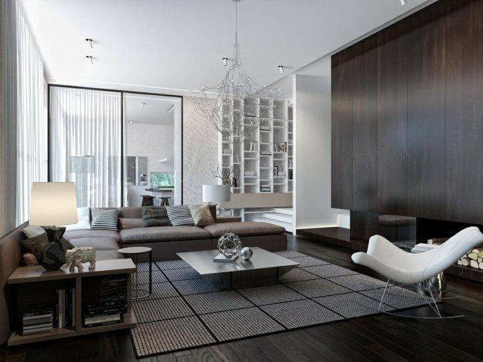 Wohnzimmerwand Ideen Stilvoll On Für Wohnzimmer Einrichten Neutral Couchtisch 1