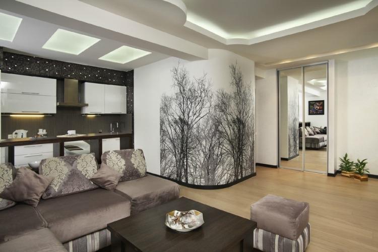 Wohnzimmerwände Modern Fein On In Tapezieren Www Sieuthigoi Com 6