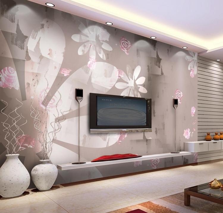 Wohnzimmerwände Modern Unglaublich On Mit Tapezieren Www Sieuthigoi Com 4