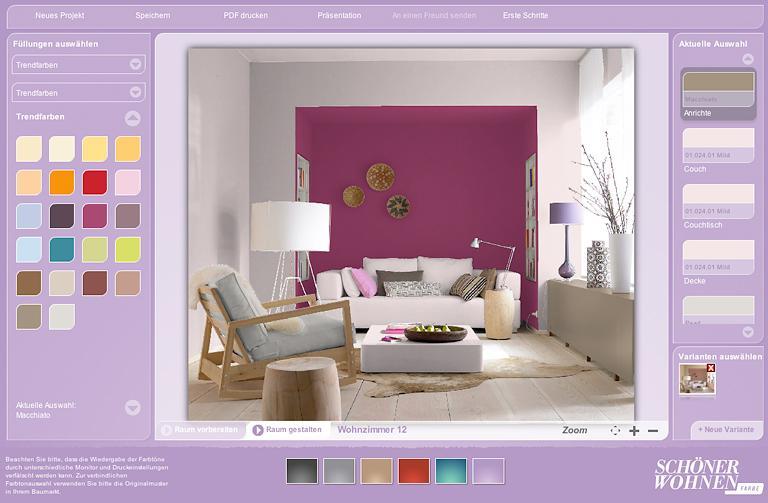Zimmer Farblich Gestalten Großartig On Andere überall Farbdesigner Von SCHÖNER WOHNEN So Funktioniert Er 1